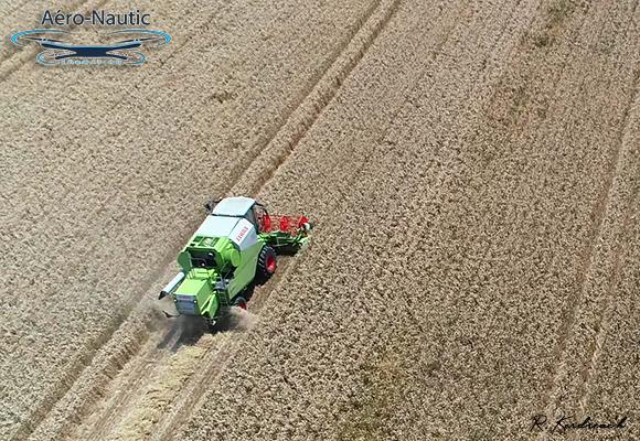 Formation Télépilote de Drone - Moisson - Juillet 2019 - Moissonneuse Claas - Pays Bigouden - Aéro-Nautic Formation